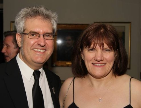 Paul Kane and Marie O'Regan at the Gemmell Awards 2014