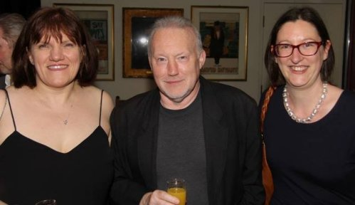 Marie O'Regan, Stephen Jones and Lou Morgan - Gemmell Awards 2014. Photo courtesy of Peter Coleborn