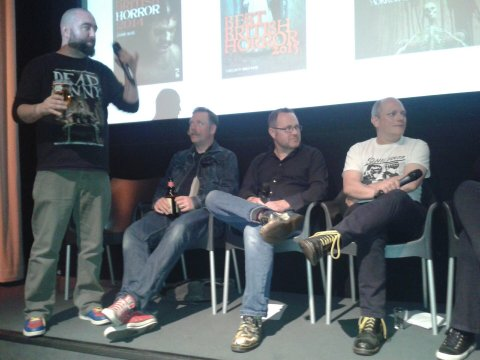L to R: Johnny Mains, Rufus Hound, Mark Morris, Andrew Hook